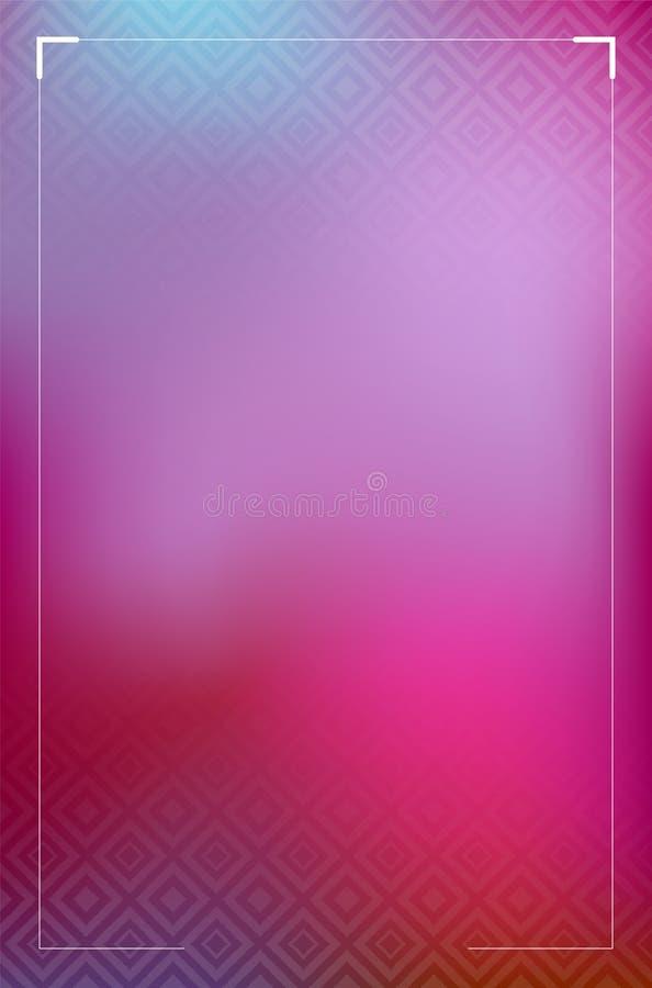 Abstrakt rosa bakgrund med diamantmodellen stock illustrationer