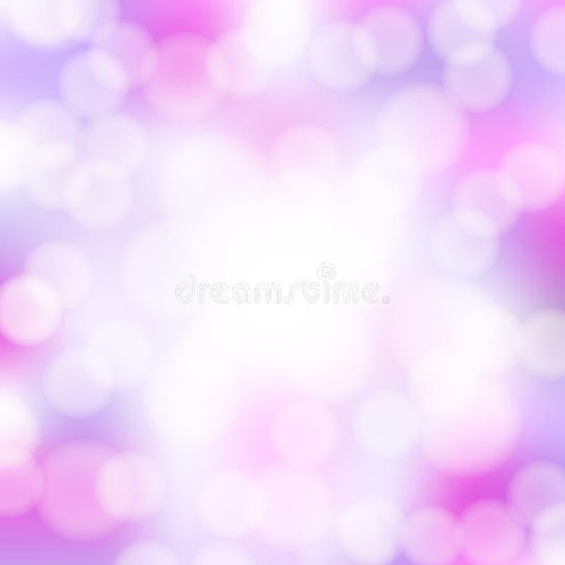 Abstrakt rosa bokehbakgrund royaltyfri illustrationer