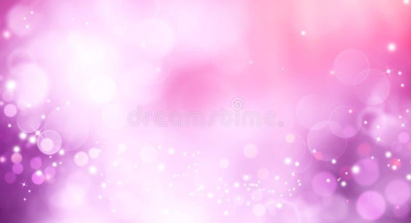Abstrakt rosa bokehbakgrundssuddighet royaltyfri illustrationer