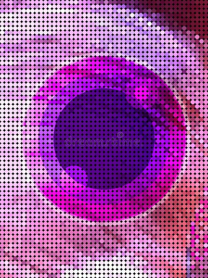 Abstrakt rosa färgöga från prickmodell stock illustrationer