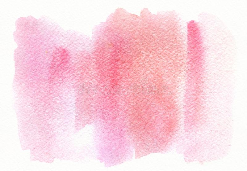 Abstrakt rosa moderiktig vattenfärgbakgrund, skilsmässa, fläck Planlägg beståndsdelen för lyckönskankort, trycket, baner och royaltyfria foton
