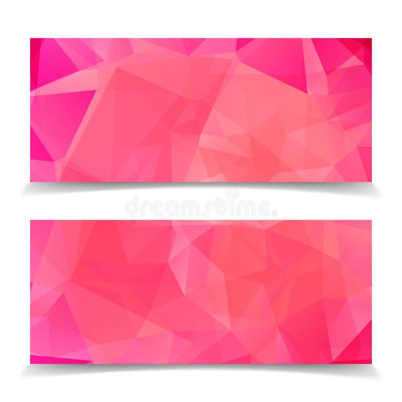 Abstrakt rosa modernt triangulärt Polygonal geometriskt förbud vektor illustrationer