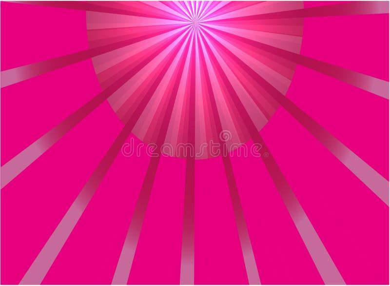 Abstrakt rosa vektor för strålljusbakgrund stock illustrationer