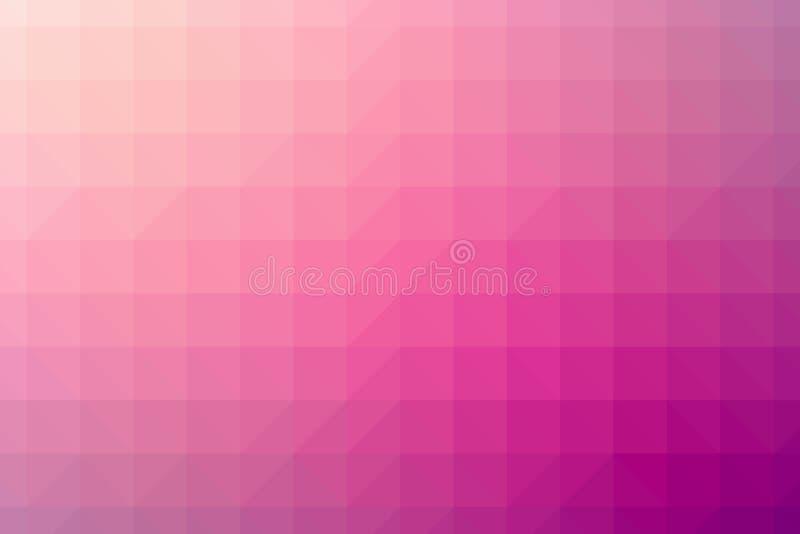 Abstrakt rosaaktig vektor för polygonlutningbakgrund arkivbild