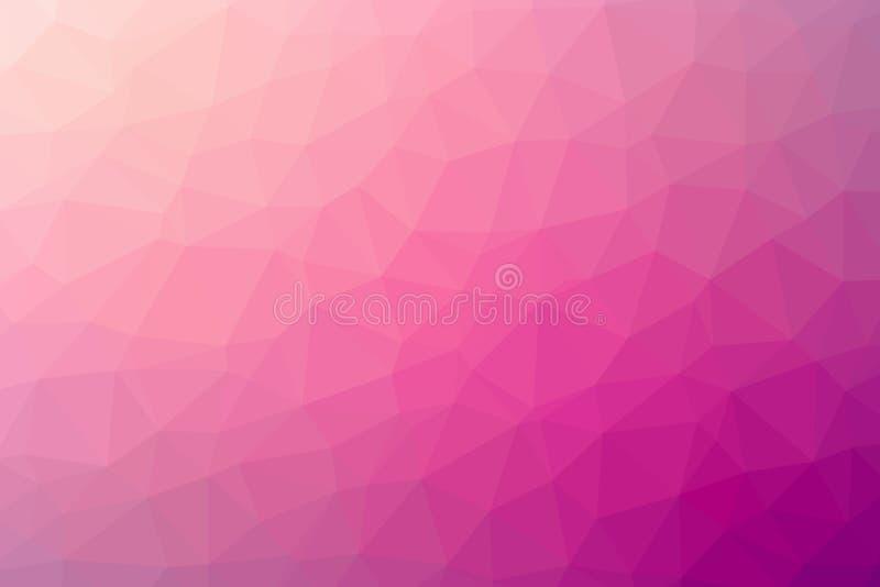 Abstrakt rosaaktig vektor för polygonlutningbakgrund fotografering för bildbyråer