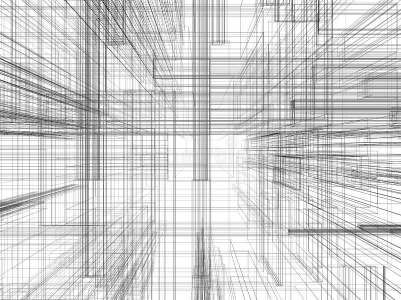 Abstrakt rumslig teknologibakgrund royaltyfri illustrationer