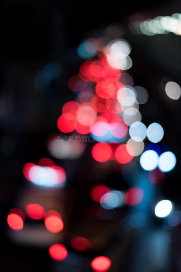 Abstrakt rund bokehbakgrund av röda ljus arkivbilder