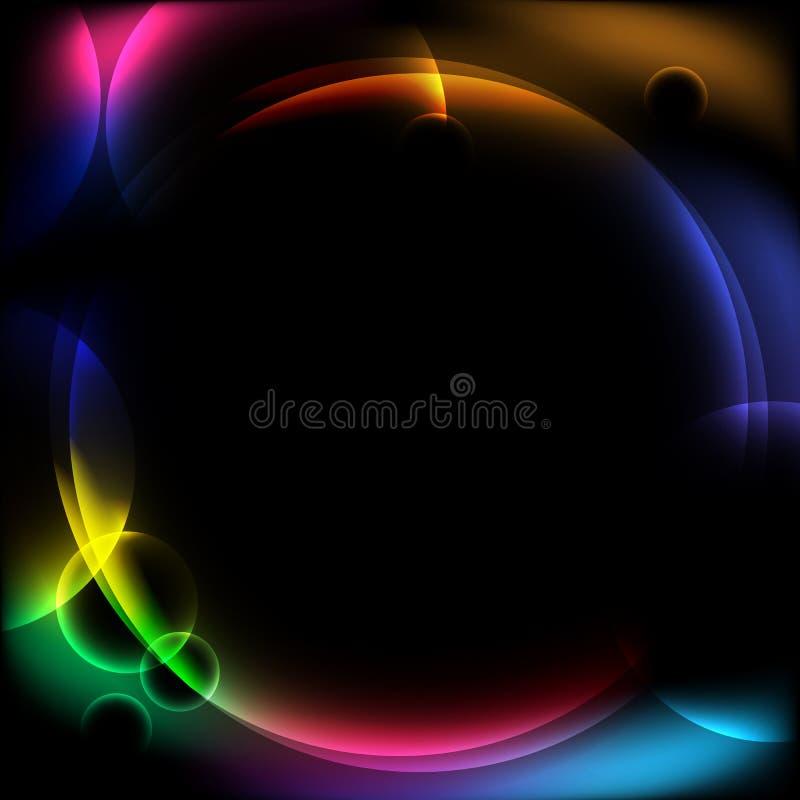 Abstrakt rund designbakgrund vektor illustrationer