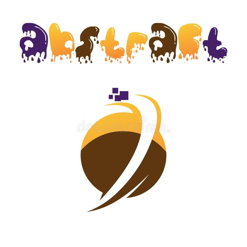 Abstrakt rund logo stock illustrationer