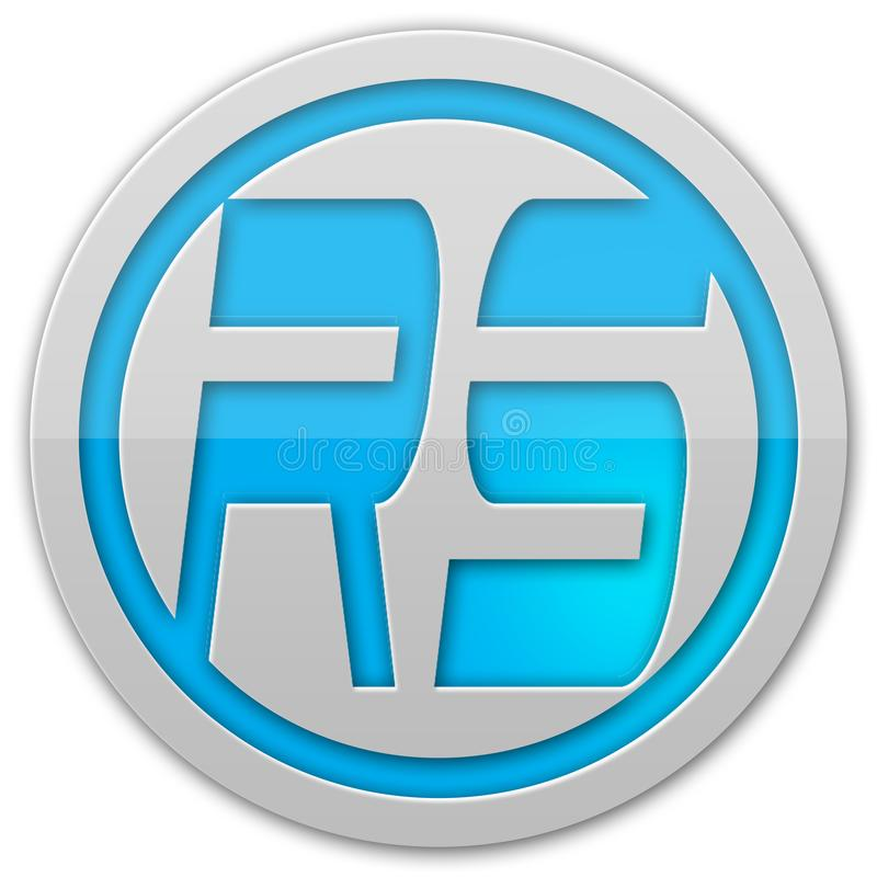 Abstrakt rund logo royaltyfria foton