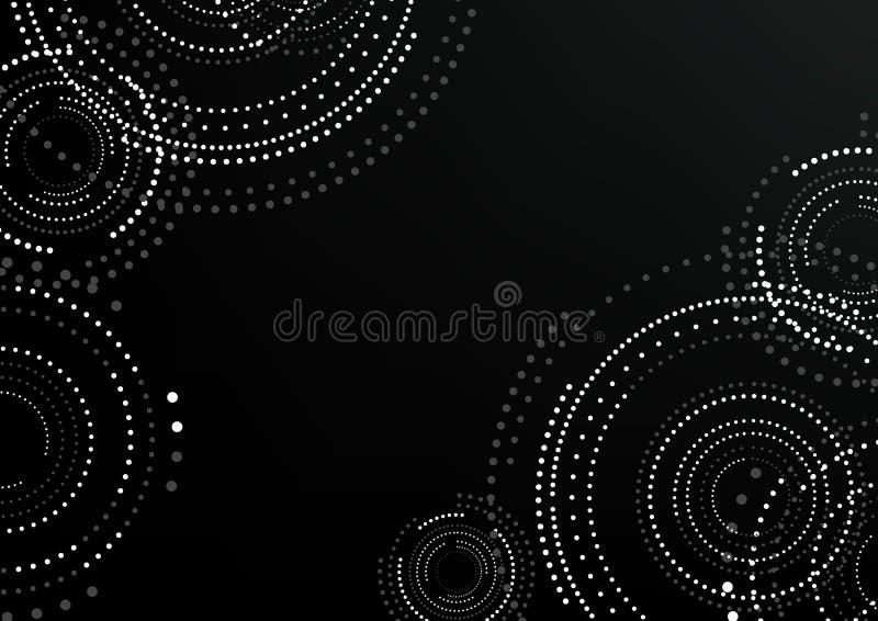 Abstrakt rund mönstrad bakgrund vektor illustrationer