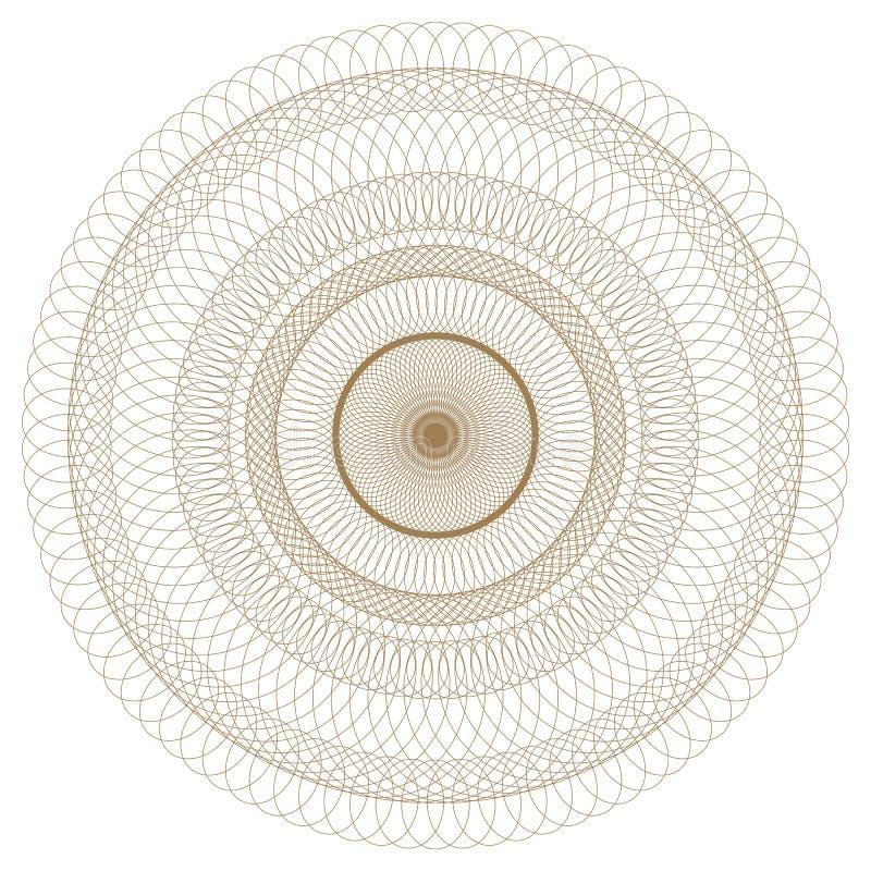 abstrakt rund modell vektor illustrationer
