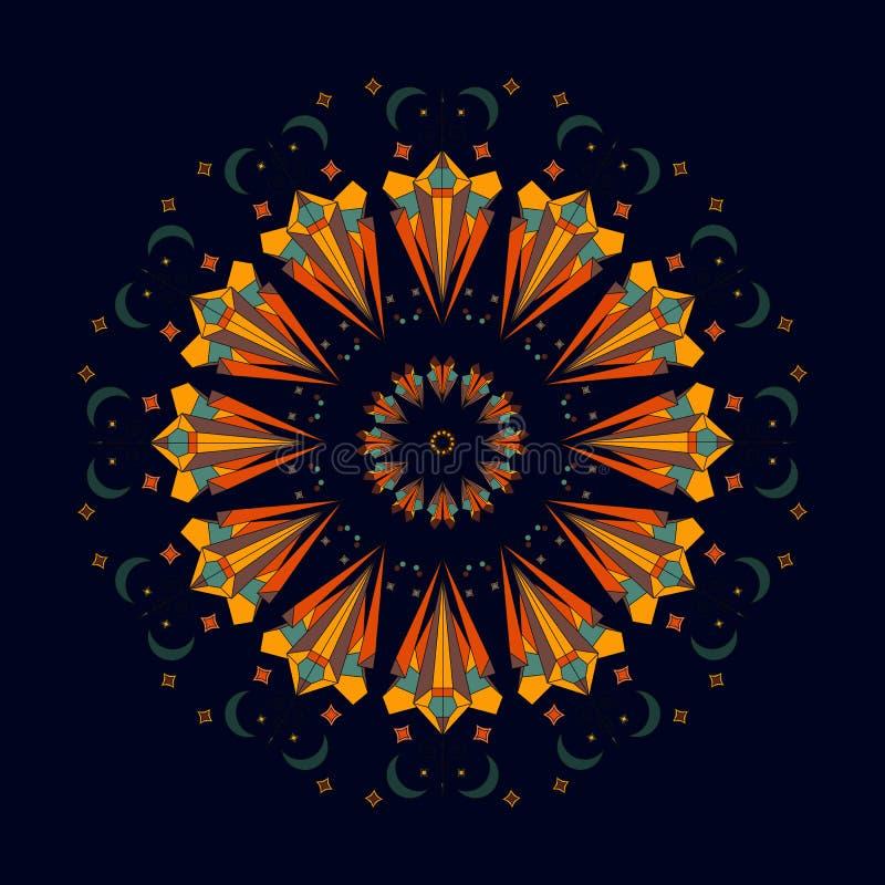 Abstrakt rund modell, prydnad också vektor för coreldrawillustration royaltyfri illustrationer