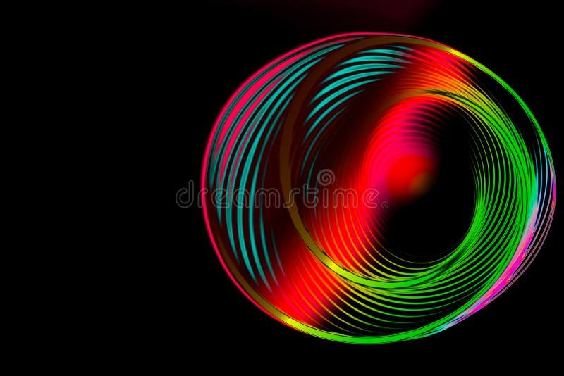 Abstrakt rund roterande spiral f?r f?rgrik spiral arkivbilder