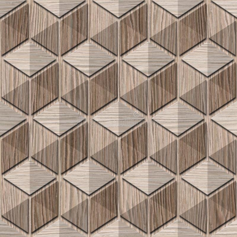 Abstrakt rutig modell - sömlös bakgrund - sabla ek stock illustrationer