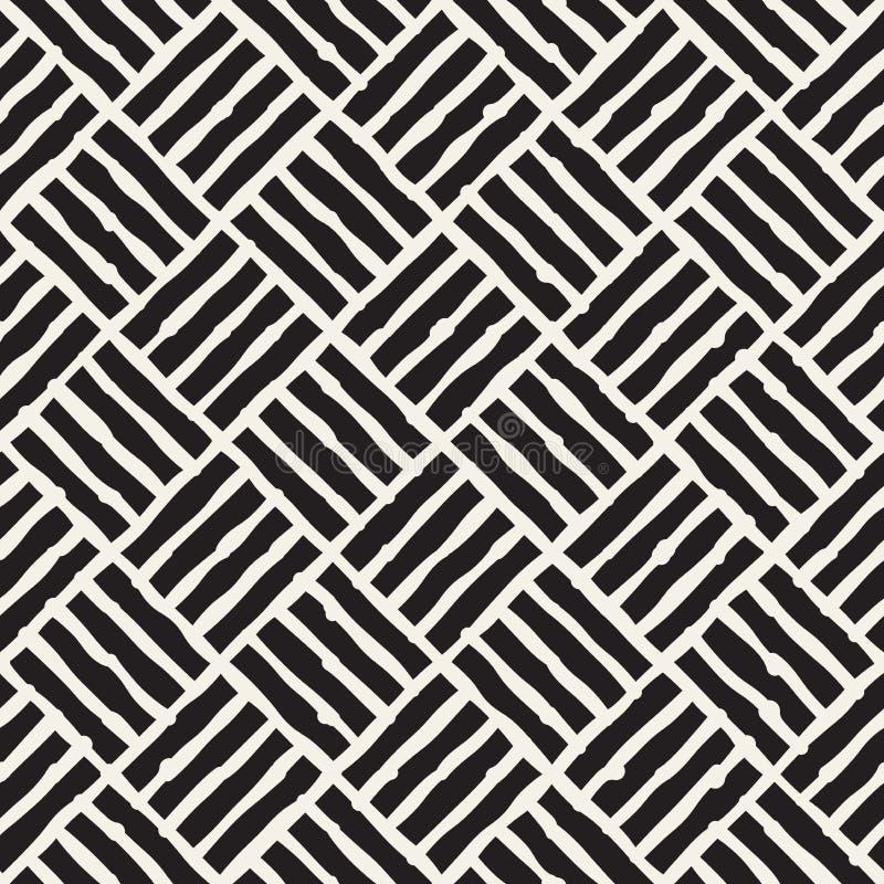 abstrakt rysujący ręki ilustraci wzoru bezszwowy wektor Wektorowa freehand linii tła tekstura Atramentu muśnięcie muska geometryc ilustracji