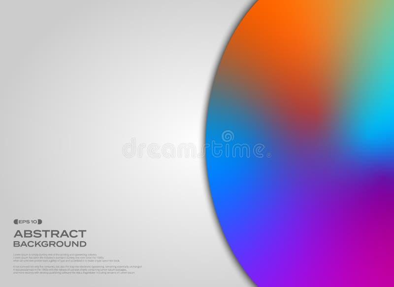 Abstrakt rzadkopłynny kolorowy okrąg na jasnym tle royalty ilustracja
