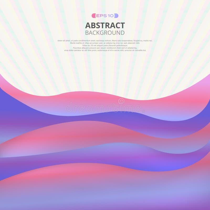 Abstrakt rzadkopłynny kolorowy z siatka wzoru tłem ilustracji