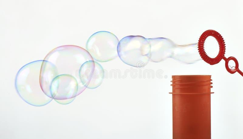 Abstrakt såpbubbla för danande royaltyfri foto
