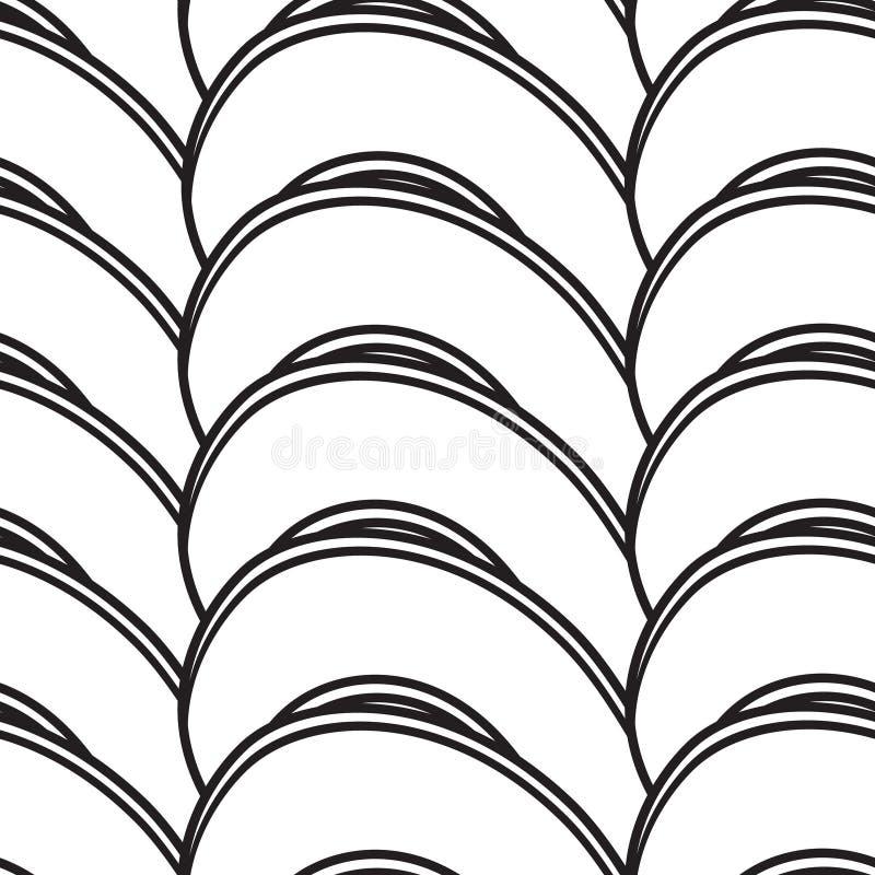 Abstrakt sömlös bakgrund med att bukta linjer royaltyfri illustrationer