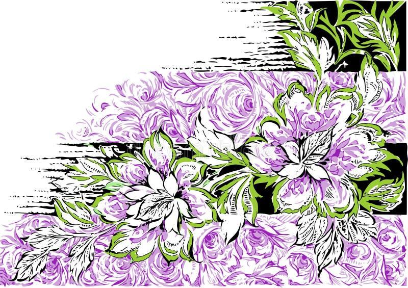 Abstrakt sömlös blommabakgrund royaltyfri foto