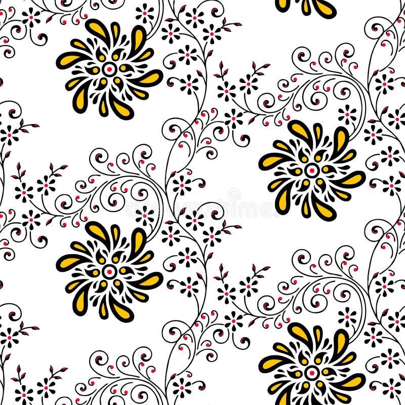 Abstrakt sömlös blommabakgrund royaltyfria bilder