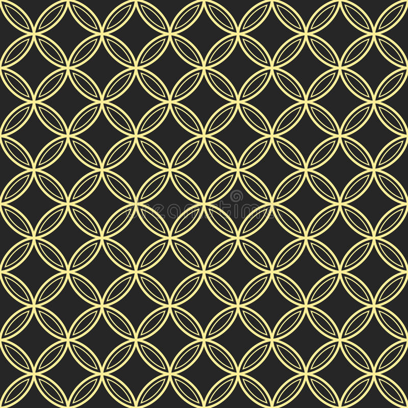 Abstrakt sömlös dekorativ quatrefoilmodell royaltyfri illustrationer