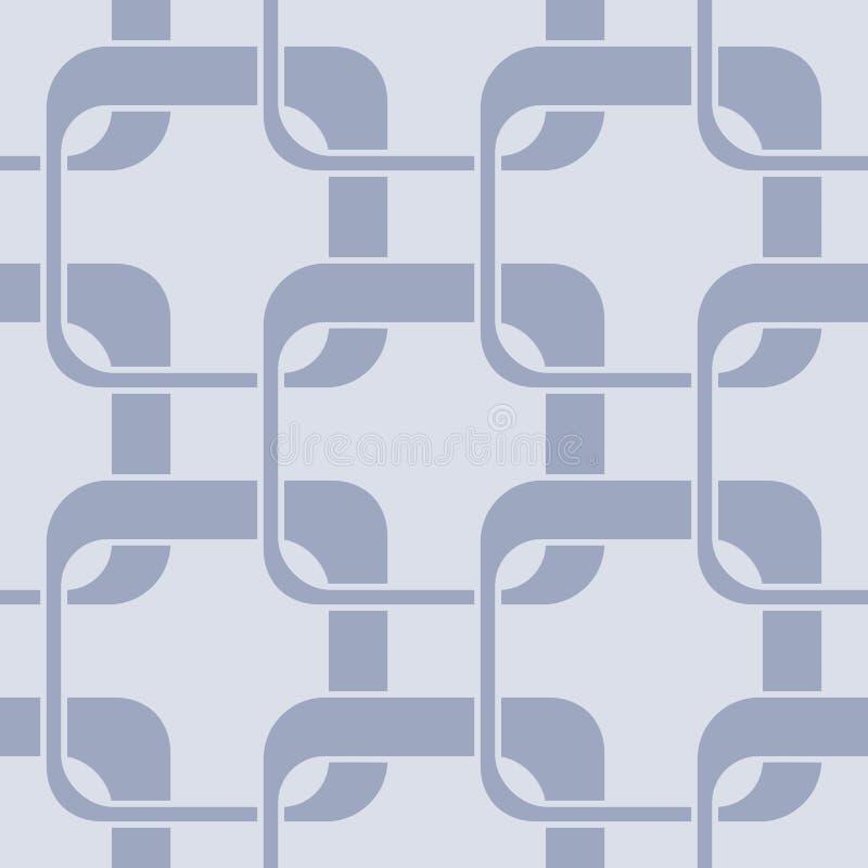 Abstrakt sömlös geometrisk bakgrund med olika fyrkantiga former stock illustrationer