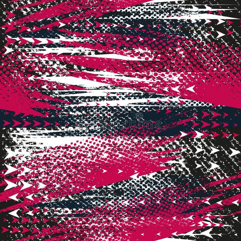 Abstrakt sömlös geometrisk modell med stjärnor, geometriska former, prickar, färgrikt sprutmålningsfärgfärgpulver Stads- modell f vektor illustrationer