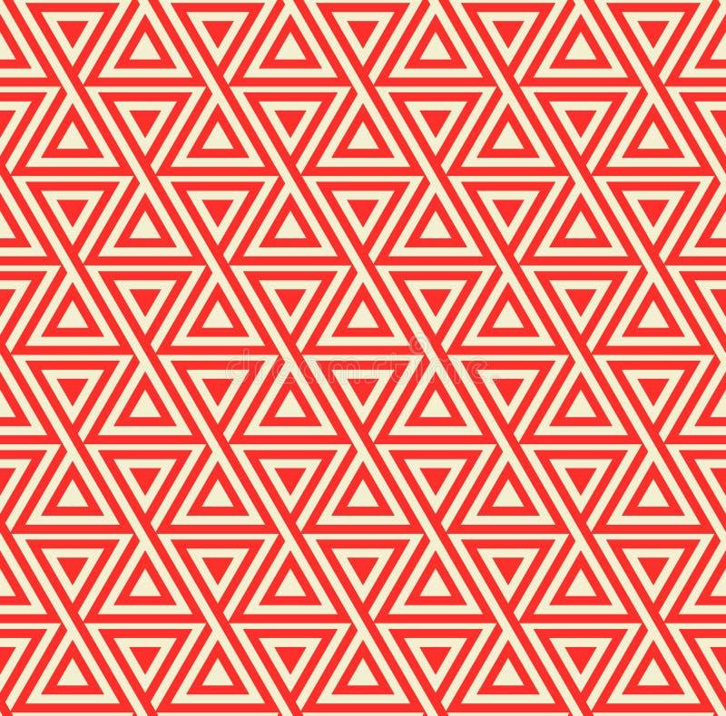 Abstrakt sömlös geometrisk modell med trianglar vektor illustrationer