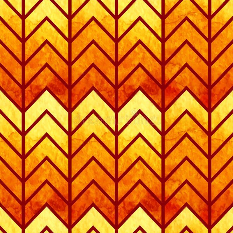 Abstrakt sömlös geometrisk vattenfärgsparre vektor illustrationer