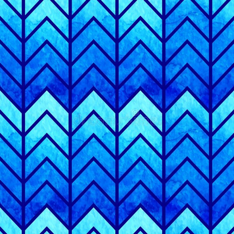 Abstrakt sömlös geometrisk vattenfärgsparre stock illustrationer