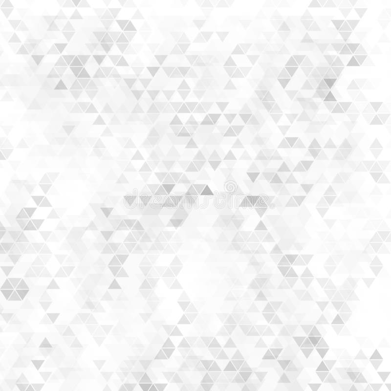 Abstrakt sömlös grå triangulär geometrisk formbakgrund stock illustrationer