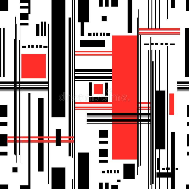 Abstrakt sömlös modell av geometriska band vektor illustrationer