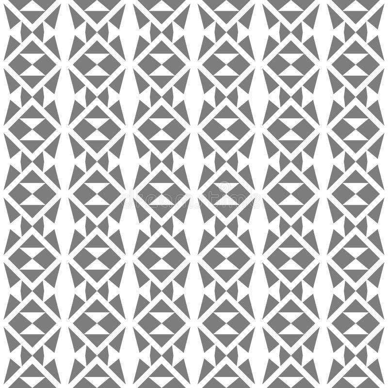 Abstrakt sömlös modell av geometriska former Enkla former och raka linjer stock illustrationer