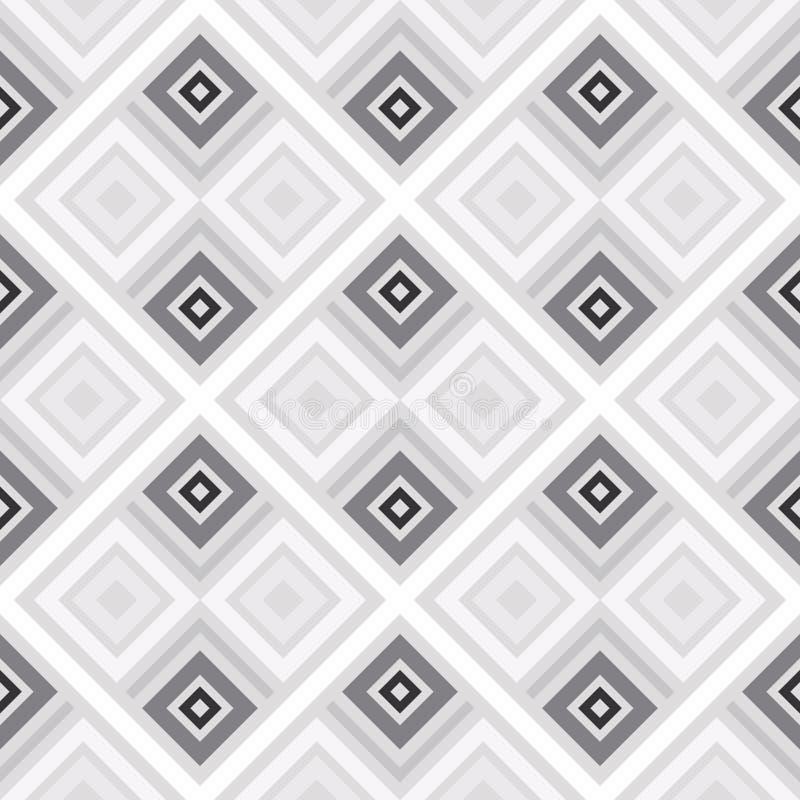 Abstrakt sömlös modell av linjer och fyrkanter Enkla geometriska former stock illustrationer