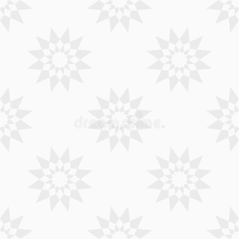 Abstrakt sömlös modell av stjärnor abstrakt bakgrund Stamgäst som upprepar geometriska former royaltyfri illustrationer