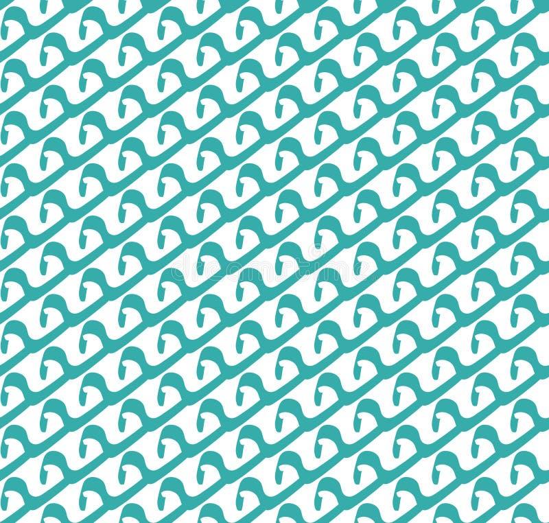 Abstrakt sömlös modell av vågor Geometrisk stilfull textur Modern upprepande bakgrund Blått vinkar sömlös textur royaltyfri illustrationer