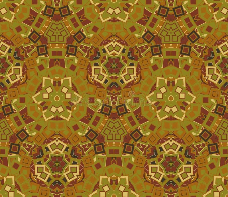 Abstrakt sömlös modell, bakgrund Komponerat av kulöra geometriska former stock illustrationer