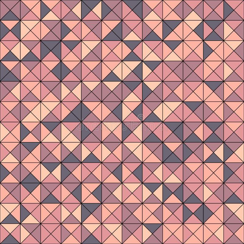 Abstrakt sömlös modell för vektor med på måfå färgade trianglar stock illustrationer