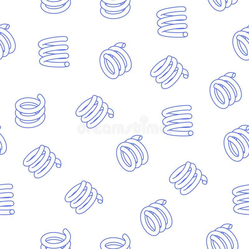 Abstrakt sömlös modell med att sväva vårar vektor illustrationer
