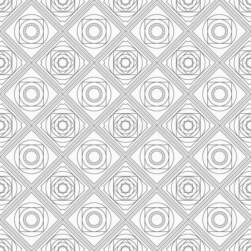Abstrakt sömlös modell med den symmetriska geometriska prydnaden royaltyfri illustrationer