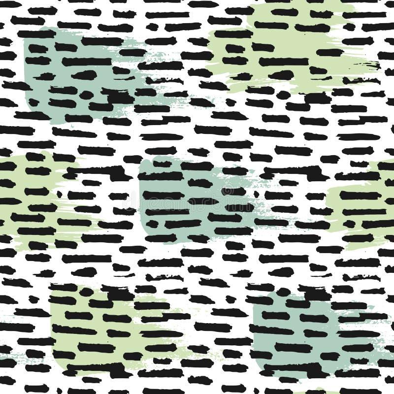Abstrakt sömlös modell med tjocka färgpulverslaglängder royaltyfri illustrationer