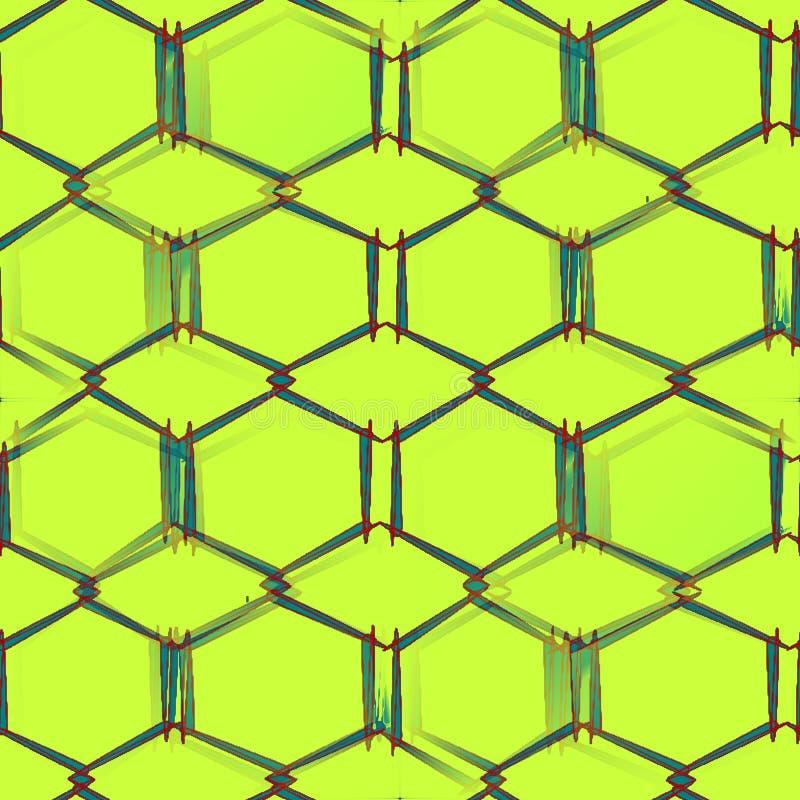 Abstrakt sömlös modell på gröna bakgrundsgräsplandiagram med hörn vektor illustrationer