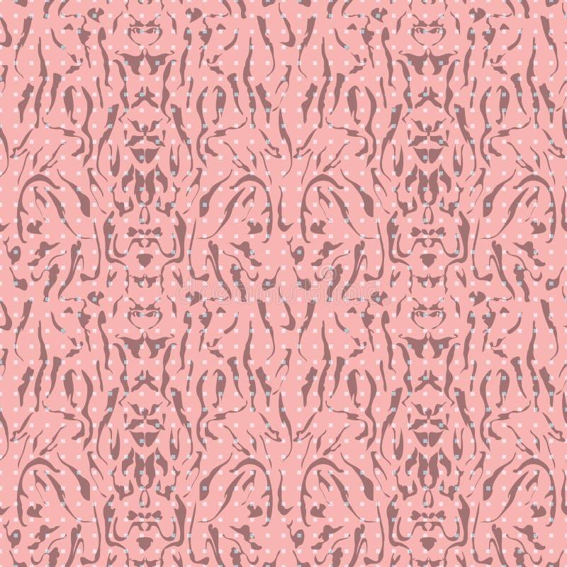 Abstrakt sömlös modellillustration av skeva band och rektangeltextur royaltyfri illustrationer