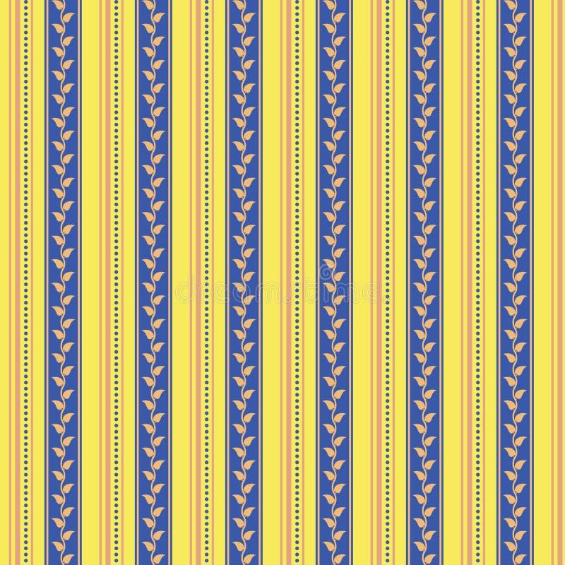 Abstrakt sömlös prydnadmodell, vektorillustration, Retro bakgrund som göras med prickar för vertikala band, och sidor, tappninghö royaltyfri illustrationer
