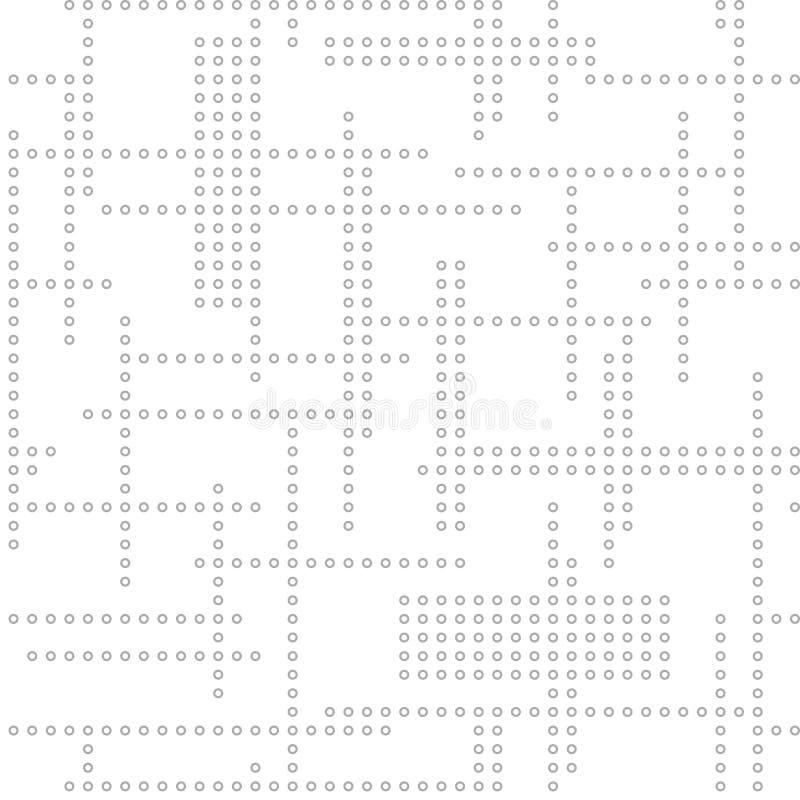 Abstrakt sömlös technomodell ljus vektor för bakgrund vektor illustrationer