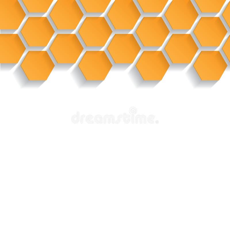 Abstrakt sömlös textur med honungskakor stock illustrationer