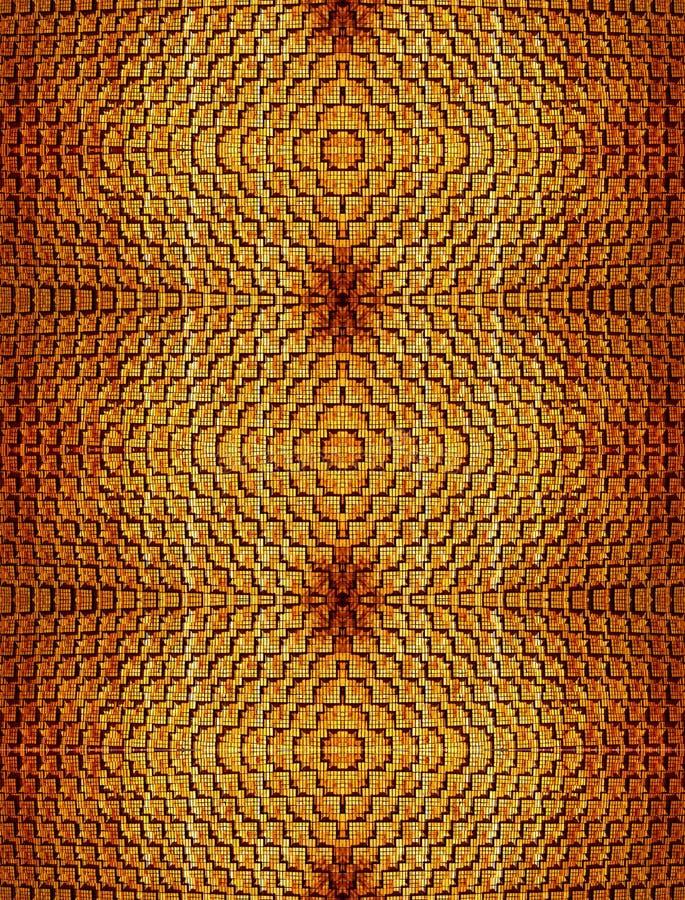 Abstrakt sömlös textural bakgrund av orange tegelstenar av det utsökta murverket och som tillsammans symmetrically gjuter arkivfoto