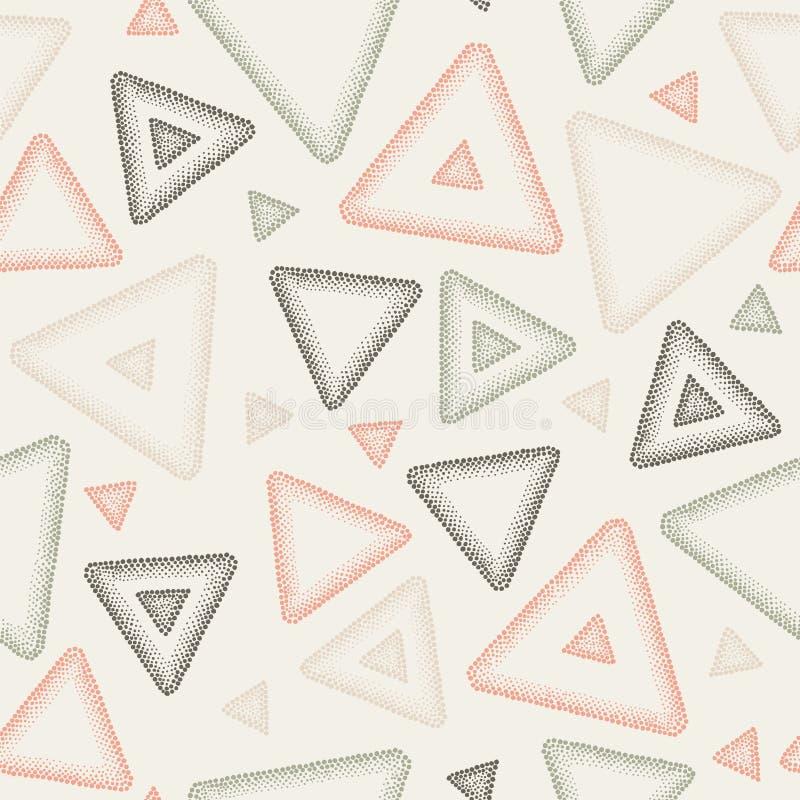 Abstrakt sömlös vektormodell - trianglar vektor illustrationer